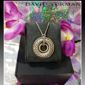 🌺 David Yurman Carved Cable Disc Necklace 🌺